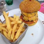 Double cheese burger au curry