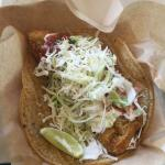 Traditional Baja Fish Taco. Nice and crunchy.