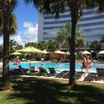 Private entry from Platinum Tower to pool n back to rooms; Pool bar; Hot tub; Pool boy towels n