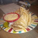 Hummus dip plate.