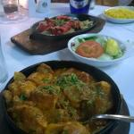 Salmon Tikka and Salmon Kahdi (I think I got that right!) Highly recommended ...
