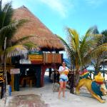 The main entrance on the other side its majesty the Mexican caribbean ocean.