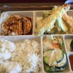 Bento box with miso soup