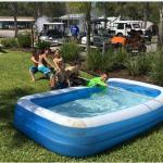 Memorial Day weekend at Ocean Grove RV Resort in St. Augustine Beach was so much fun! Games, pet