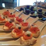 Canapes at the lounge