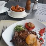Ein leckeres US Rib Eye Steak, man gönnt sich ja sonst nichts :-)
