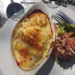 hadock, and salmon with mashed potatoes! AMAZING!