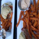Signature Muffuletta sandwich & Sweet Potato Fries (Shared)