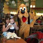"""Pluto says """"hi"""" to my little guy and my mother-in-law."""