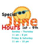 Daily Hours Until 6/10/2016