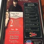 Happy Hour and Specials