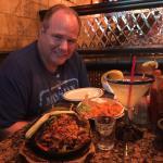 Steak,Shrimp & Chicken Fauitas with Rice & Beans