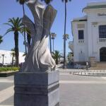 The statue used to be in Jardin Mohammed V