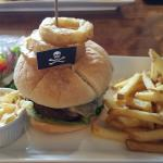 Pirate Burger and Chips