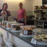 The homemade cakes at the Coastpath cafe, Gorran Haven