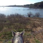 Morning ride to the lake