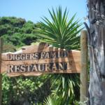 Diggers Family Restaurant sign.