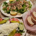 Greek Salad & Insalata Di Mare