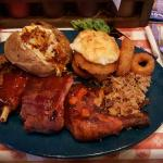 Texan sampler -  sooo much food!