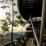 Photo taken from my table at Parmessano Santafe's alfresco dining room. Perfect view of Medellín