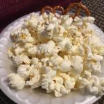 Popcorn offered several times in the evening during our visit.