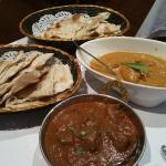 lamb rogan josh and chicken korma