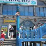 Front of the store, first floor under Steamers