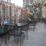 The patio in back