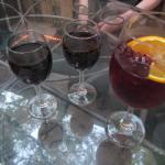 Some red wine and a Sangria