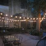 Looking across the patio