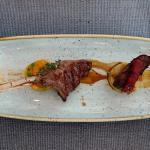 Flank steak and lamb rack
