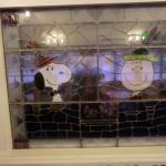 Charlie Brown and Snoopy window