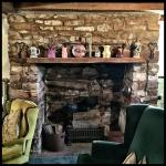 Stone fireplace/kitchen, in original building of the Lightner Farmhouse. Predates the 1862 const