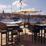High tables by the sea