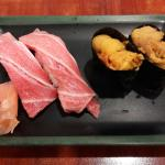 Melt in the mouth otoro sushi and deliciously sweet and creamy uni sushi :).