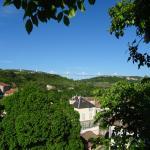 vue de l'hôtel sur le viaduc de Millau