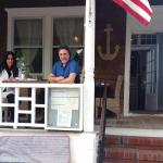 ON THE PORCH AT PORTERS ON THE LANE IN BELLPORT WITH ROSARIO CASSATA