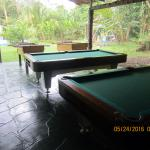 2 pool tables and 2 foosball tables