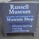 Russell Museum sign.