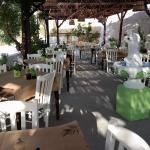 Kipos Taverna from inside.