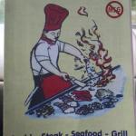 Menu brochure for this restaurant.