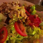 My favorite pesto ceasar salad with chicken.