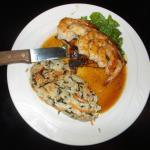 Jack Daniels glazed chicken and shrimp