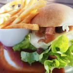 Petite venison burger