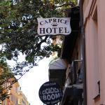 Outside Caprice Hotel, Rome.