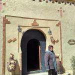 my mother in front of the chambres