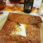 Crêpe sarrasin-champignons-roquefort-jambon-oeuf
