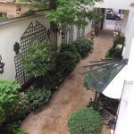 Lovely garden walkway to hotel