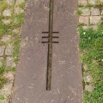 Nibelungenlied Denkmal, 2007, vom Wormser Künstler Horst Rettig, Torturmplatz. In 7 m Tiefe wurd