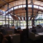Main lobby and view of Kingfisher Bay Resort.